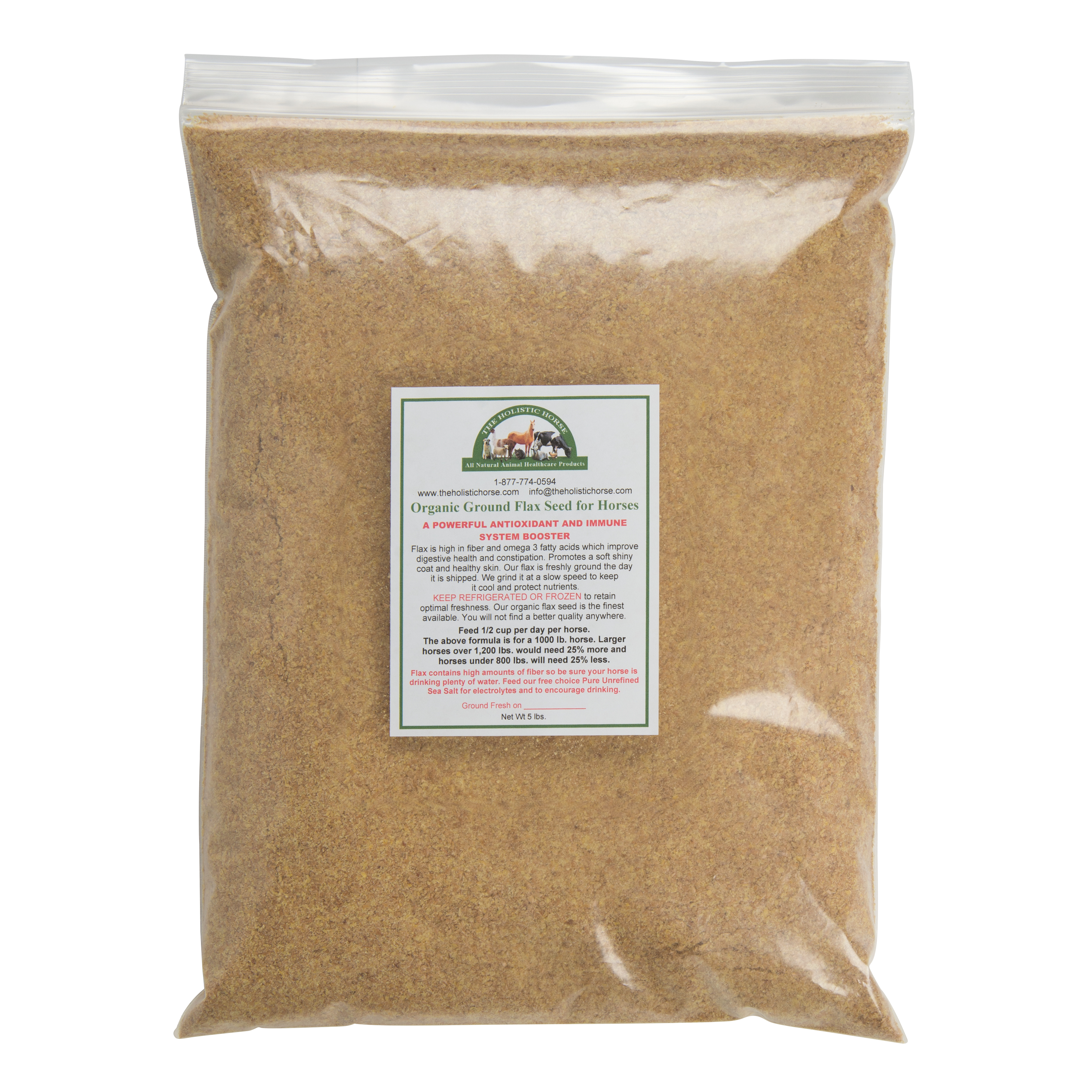 Flax Seed Organic For Horses Stone Ground 5 Lbs