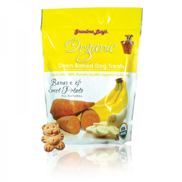 Grandma Lucys Organic Banana & Sweet Potato Dog Treats